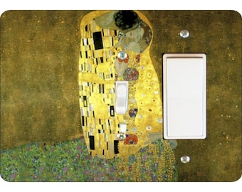 Klimt The Kiss Painting Toggle and Decora Rocker Double Switch Plate Cover