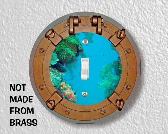 Porthole Nautical Precision Laser Cut Toggle and Decora Rocker Round Light Switch Wall Plate Covers