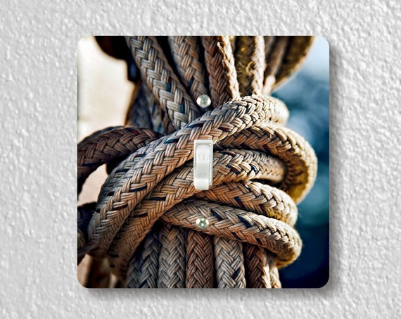 Nautical Rope Knot Precision Laser Cut Toggle and Decora Rocker Square Light Switch Wall Plate Covers