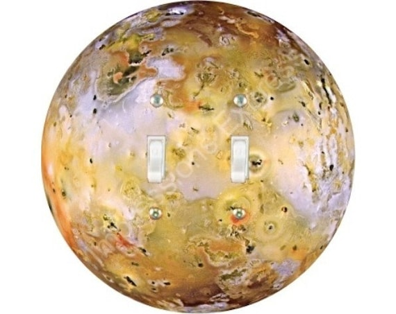Jupiter Moon Io Space Double Toggle Switch Plate Cover