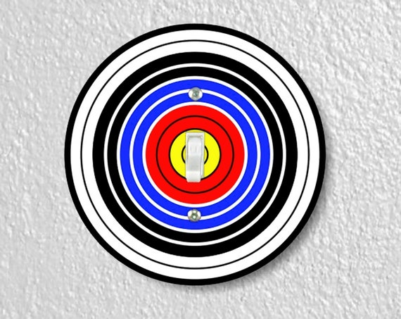 Archery Target Precision Laser Cut Toggle and Decora Rocker Round Light Switch Wall Plate Covers