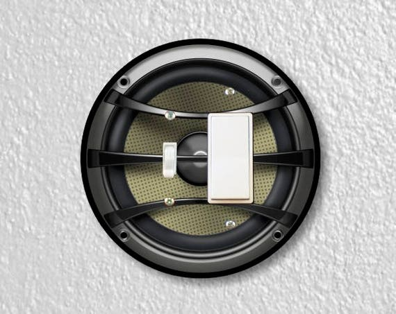 Audio Music Speaker Round Toggle and Decora Rocker Switch Plate Cover