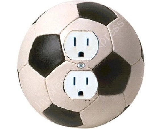 Soccer Sports Ball Duplex Outlet Plate Cover A