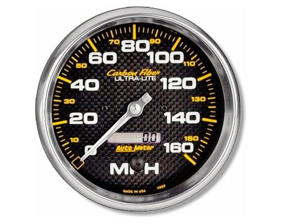 Car Speedometer Round Mousepad