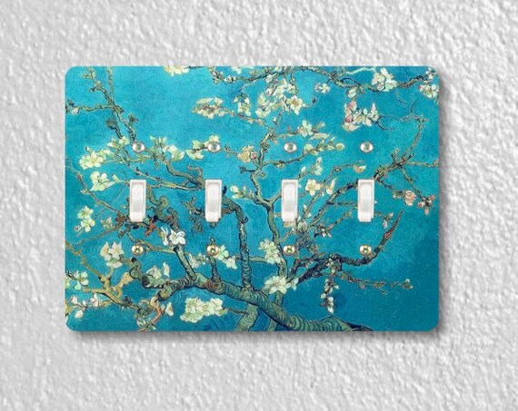 Almond Branches Van Gogh Painting Quadruple Toggle Light Switch Plate Cover