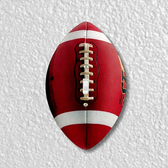 Football Ball Shaped Single Toggle Light Switch Plate Cover