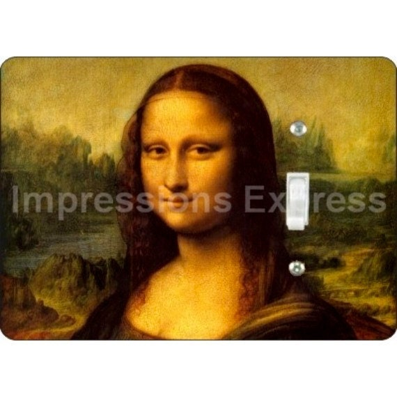 Mona Lisa Da Vinci Painting Single Toggle Light Switch Plate Cover
