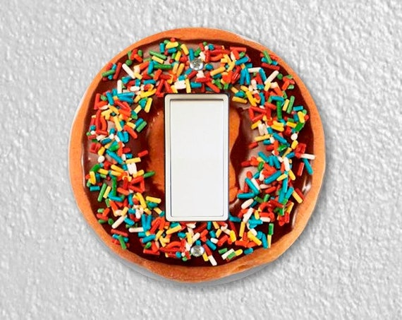 Doughnut Round Decora Rocker Switch Plate Cover