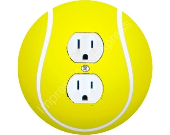 Tennis Ball Duplex Outlet Plate Cover