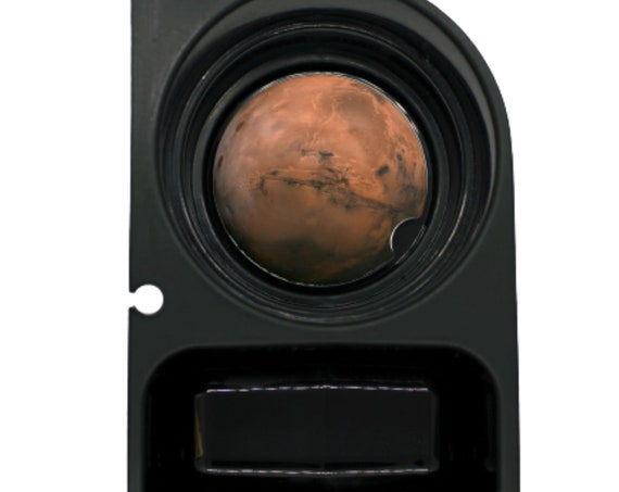 Planet Mars Space Round Sandstone Car Cupholder Coaster