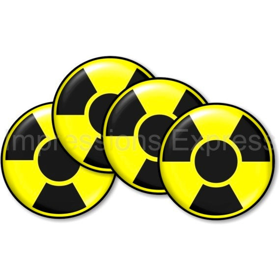 Radioactive Sign Coasters - Set of 4