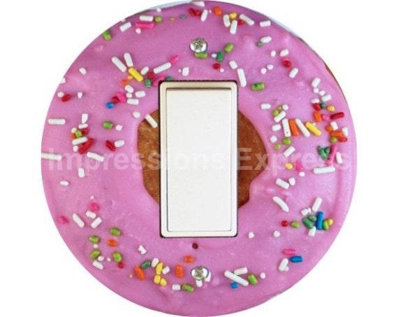 Pink Doughnut Decora Rocker Switch Plate Cover