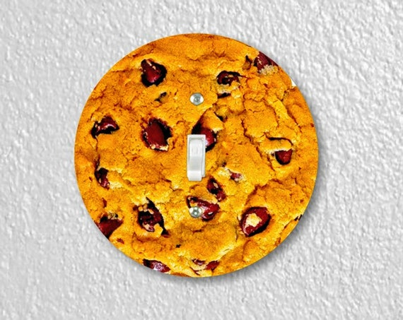 Precision Laser Cut Toggle And Decora Rocker Round Light Switch Plate Covers - Chocolate Chip Cookie - Home Decor - Wallplates