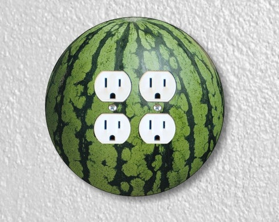 Watermelon Fruit Round Double Duplex Outlet Plate Cover
