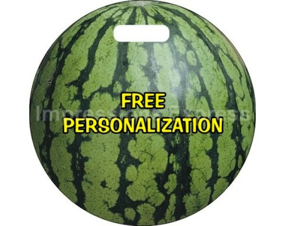 Watermelon Fruit Personalized Luggage Bag Tag
