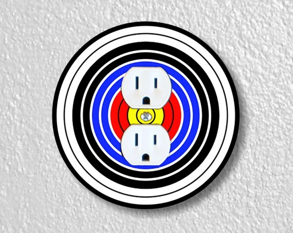 Archery Target Precision Laser Cut Duplex and Grounded Outlet Round Wall Plate Covers