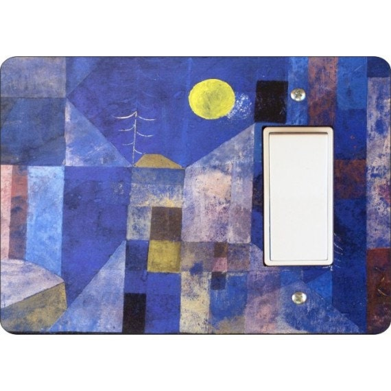Paul Klee Moonlight Painting Decora Rocker Light Switch Plate Cover