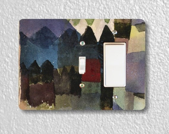 Föhn In Marc's Garden Paul Klee Painting Toggle and Decora Rocker Double Switch Plate Cover