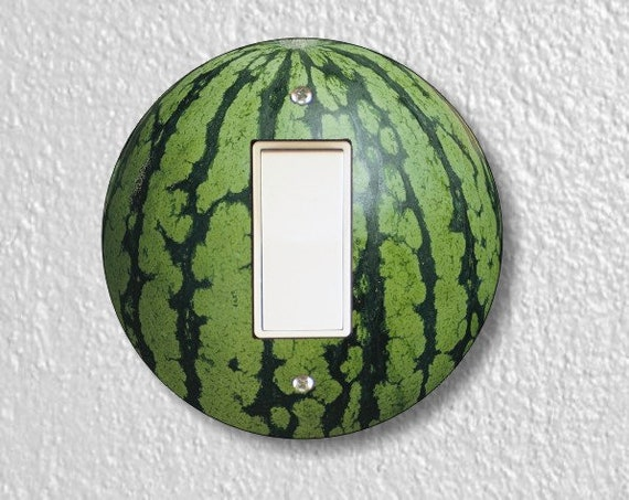 Watermelon Fruit Round Decora Rocker Light Switch Plate Cover