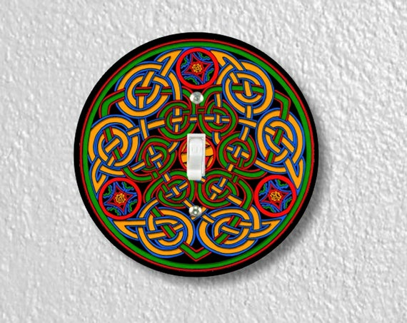 Celtic Knot Precision Laser Cut Toggle and Decora Rocker Round Light Switch Wall Plate Covers