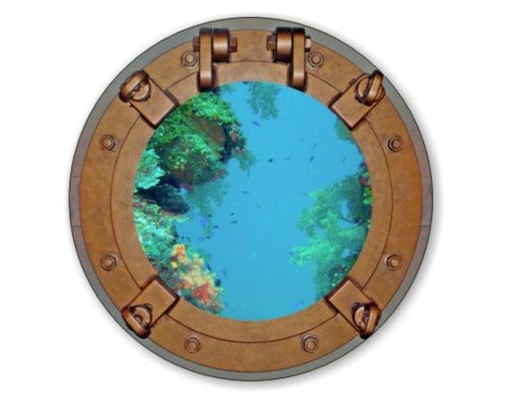 Porthole Nautical Round Mousepad