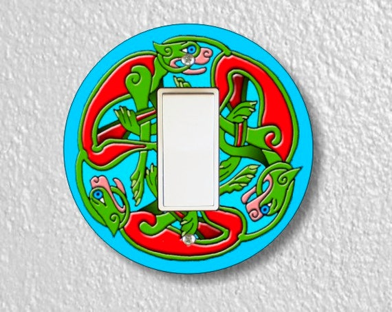 Celtic Dragon Round Decora Rocker Light Switch Plate Cover