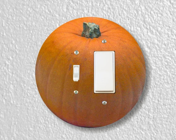 Pumpkin Precision Laser Cut Round Toggle and Decora Rocker Light Switch Wall Plate Cover