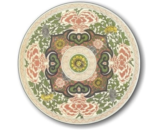 Chinese Ornament Round Mousepad