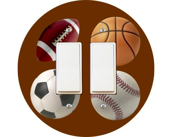 Sport Ball Decora Double Rocker Switch Plate Cover