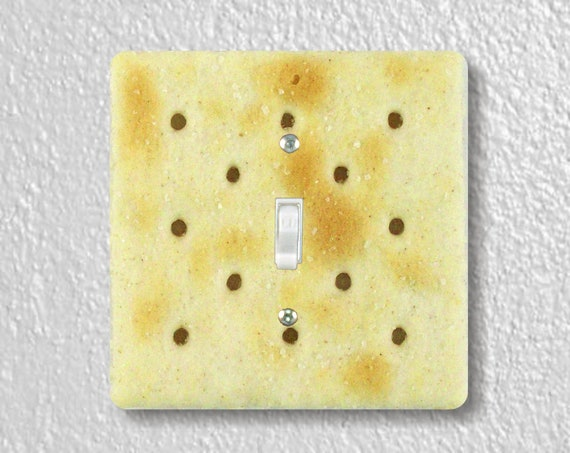 Saltine Cracker Precision Laser Cut Toggle and Decora Rocker Square Light Switch Wall Plate Covers