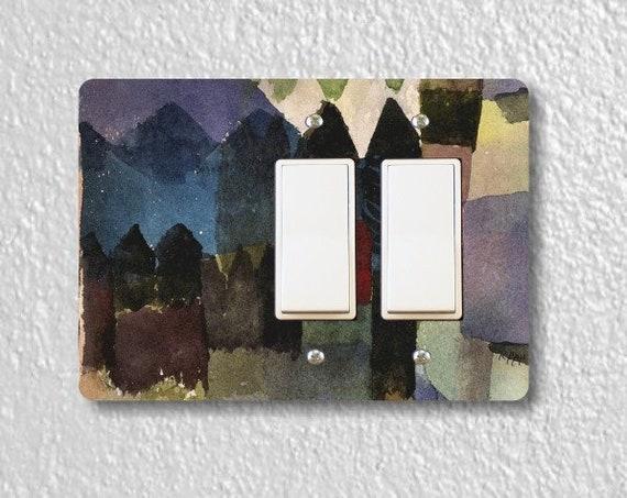 Föhn In Marc's Garden Paul Klee Painting Double Decora Rocker Light Switch Plate Cover