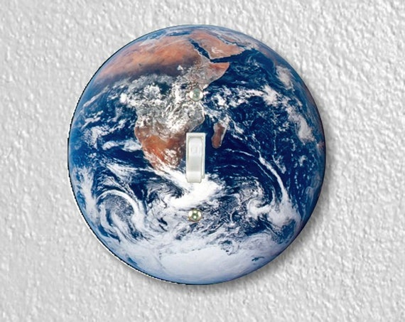 Planet Earth From Space Precision Laser Cut Toggle and Decora Rocker Round Light Switch Wall Plate Covers