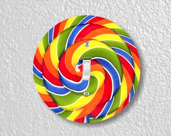 Giant Lollipop Precision Laser Cut Toggle and Decora Rocker Round Light Switch Wall Plate Covers