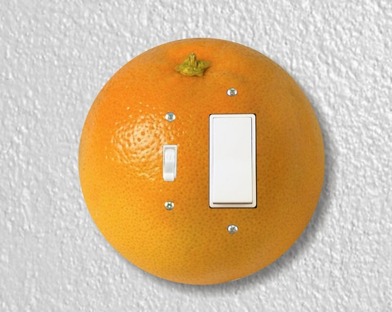 Orange Fruit Precision Laser Cut Round Toggle and Decora Rocker Light Switch Wall Plate Cover