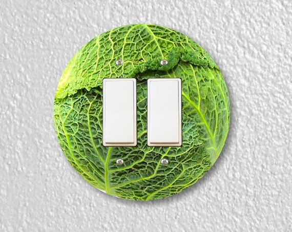 Cabbage Round Decora Double Rocker Switch Plate Cover
