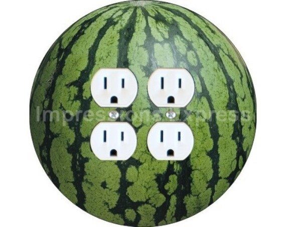 Watermelon Fruit Double Duplex Outlet Plate Cover
