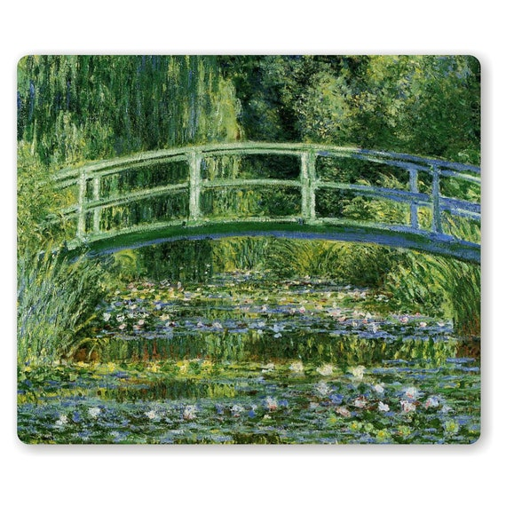 Water Lilies and Japanese Bridge Monet Painting Mousepad