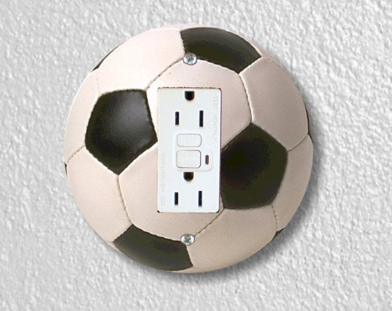 Soccer Sports Ball Round Grounded GFI Outlet Plate Cover