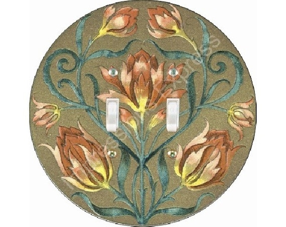 Victorian Floral Double Toggle Switch Plate Cover