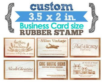 5 x 5 rubber stamp etsy 35 x 2 in business card your custom design art wood mounted rubber stamp for logo branding packaging invitations party favors reheart Choice Image