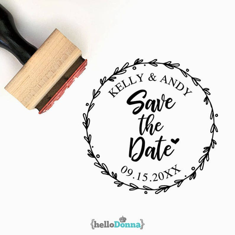 Party Packaging Invitations Wedding Favors Save the date Monogram W008 Custom Wedding Pre-Designed Rubber Stamp Branding Tags