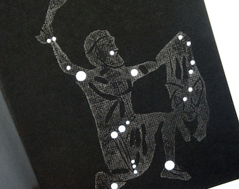 Orion, the Hunter - Shadow Constellations with Greek Illustrations - Greeting Art Card - Celestial Collection DDOTS