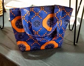 Cobalt Blue African Print Tote Bag, Blue Beach Bag, Beach Bag, Gifts for Her