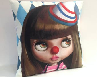 Blythe Doll Clown kitsch Boutique Cushion / Pillow cover