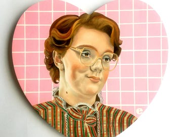 Large Stranger Things Barb Oil Painting on wood panel Lowbrow Pop Art 80s what about barb