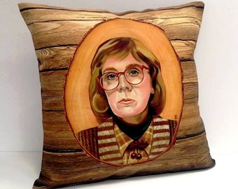 Twin Peaks Log Lady Pillow Cover fire walk with me