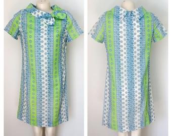 Vintage 60s spring shift dress