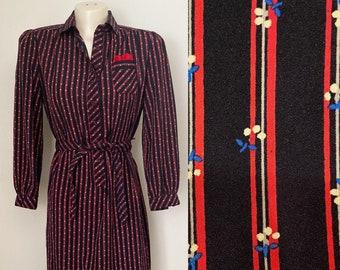 Navy 1970/'s Schrader Sport High Neck Dress