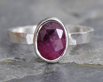 1.2ct Pink Sapphire Ring, Oval Sapphire Ring