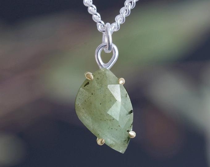 Leaf Shape Emerald Necklace, 2.35ct Emerald Necklace